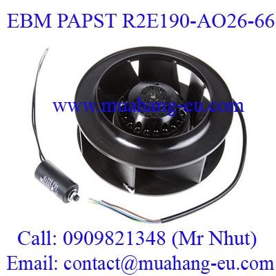Động Cơ Quạt EBM PAPST R2E190-AO26-66